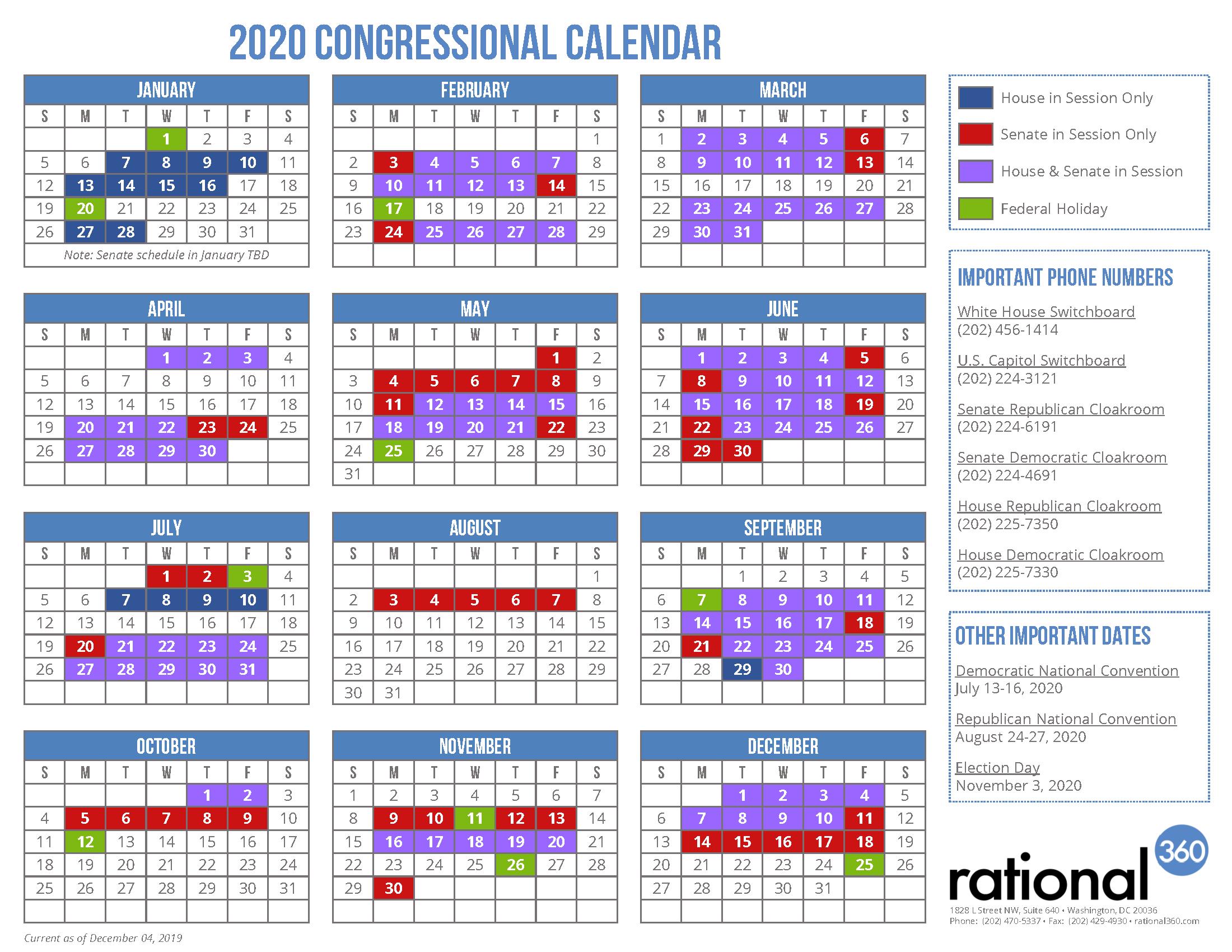 2022 Congressional Calendar.2020 Combined Congressional Calendar Rational 360
